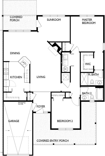 Combest Open Floor Plan Home Designs : Floorplans - Customize your options